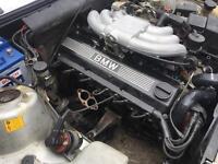 BMW e30 325i engine not car