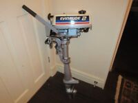 EVINRUDE JOHNSON OUTBOARD ENGINE 2 HP 2 STROKE GWO BOAT DINGY RIB INFLATABLE TENDER