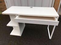 IKEA White Micke Study Desk