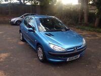 2001 Peugeot 206 1.4 Petrol 5 Door Hatchback 12 MONTHS MOT