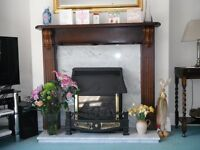Timber Fire Surround with Marble Hearth (GAS FIRE NOT INCLUDED)