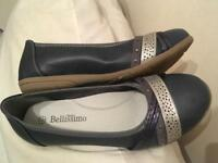 Navy & silver bellissimo pumps shoes