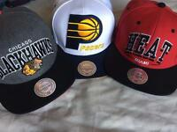 3 Mitchell and ness snap back for sale