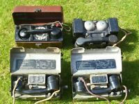 WW2 FOUR MILITARY PORTABLE FIELD TELEPHONES, DIFFERENT TYPES