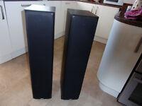Slimline, floorstanding Bowers & Wilkins DM309 Speakers. Black