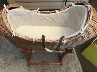 Mothercare Snug/Moses Basket with Rocking Stand