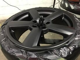 Refurbished Audi RS6 alloy wheels midnight purple