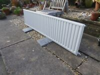 180 cm Single Panel Central Heating Radiator with TRV