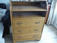 Solid pine baby change and drawers