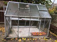 8' x 6' Aluminium tempered Glass Greenhouse