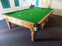 Snooker Table - Full Size - Oak