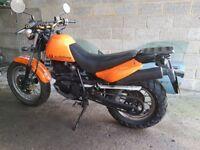 Hyosung rt125 motorbike.