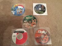 5 PC Games - Batman and Robin - Rayman 2 - Rally Championship - Disney Magic Artist Studio