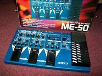 BOSS ME50 Muliti Effects Pedal, with original box and user manual