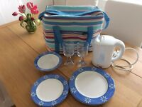 Cool Bag plus picnic place settings for two plus travel kettle