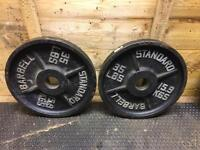 Olympic Weight Plates (2 x 35lbs) different set