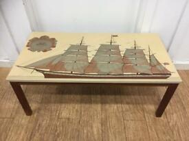Mid century American clipper coffee table