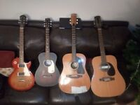 4 Good Guitars - 3 Acoustic, One Electric