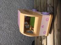 Wooden toy camper