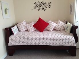 Sleigh bed/ sofa (single)