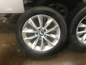 245 50R 18 PIRELLI SOTTO ZERO 3 RUN FLAT WINTER SNOW TIRES ON 2014 BMW X3 RIMS 5X120 BOLT EXCELLENT CONDITION