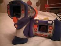 Vtech camera and camcorder blue
