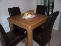 dining table and chairs.