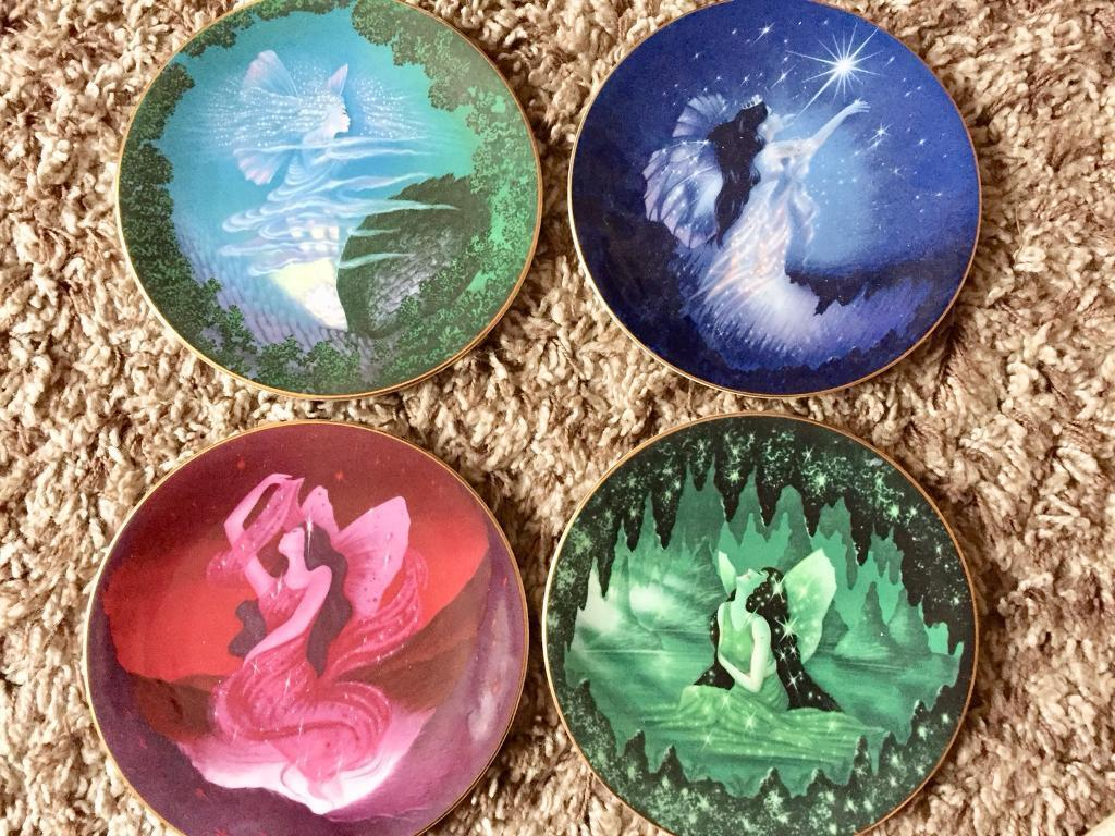 COMPTON AND WOODHOUSE COLLECTORS PLATES X 4