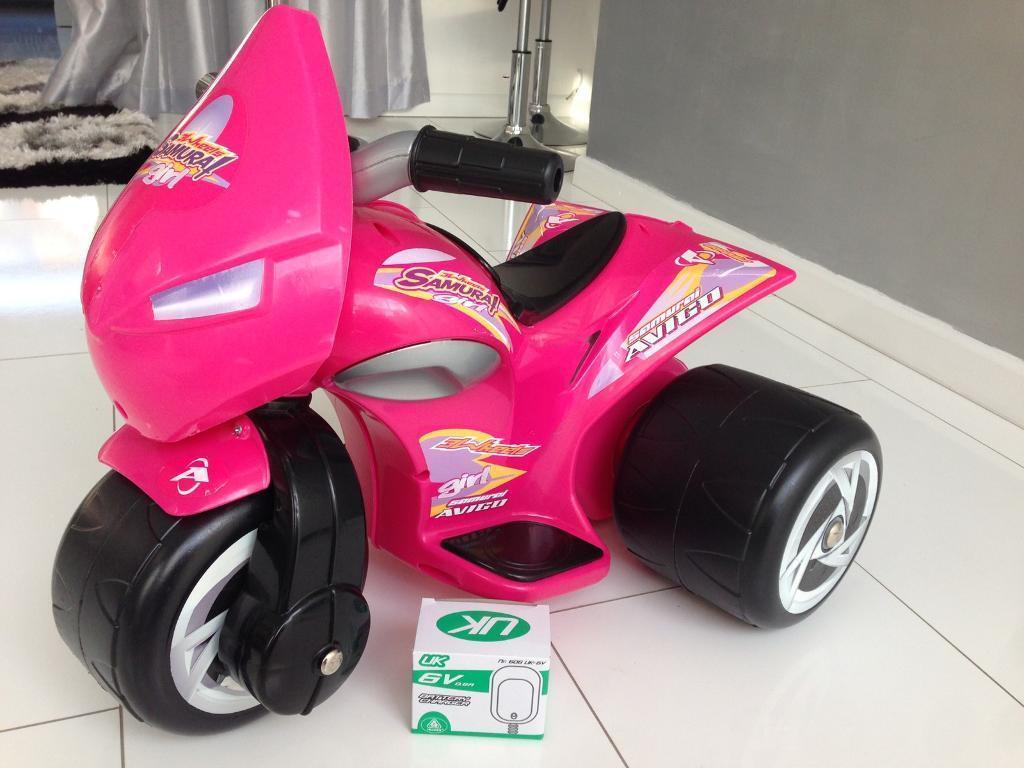 Avigo Samurai Trimoto 6V Girls Pink Electric Bike - For Ages 1yr to 3yr