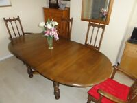 Family Dining Table - Solid Wood Extending Table - Sits 4, 6 or 8 - Reasonable Offers Considered