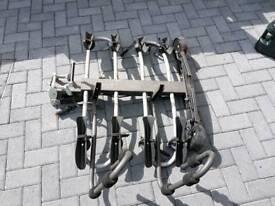 Mottez 4 bike tow bar mounted bike carrier