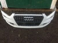 Used, Audi 8U0 Q3 S Line 11 - 14 front bumper (white + grill) for sale  Bilston, West Midlands