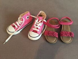For Sale Girls converse and sandals size 8