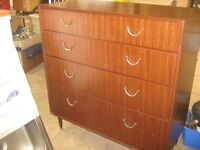 vintage meredew 5 drawer chest of drawers