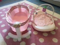 Baby annabell cot and rocker x