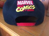 Marvel hat.