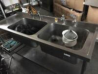Twin/ Double Commercial Stainless Steel Sink, Catering Sink
