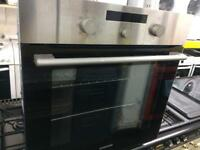 Stainless steel 60cm by 60cm integrated electric grill & fan oven good condition with guarantee