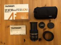 TAMRON SP AF 90mm f2.8 Di MACRO 1:1 Nikon f mount
