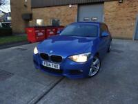 BMW 1 Series 118d M Sport 3dr (blue) 2014