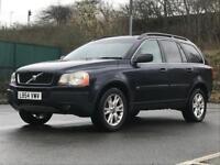 2005 (Feb 54) VOLVO XC90 2.4 D5 SE AWD - SUV 5 Doors - AUTO - DIESEL - BLUE *FULL MOT/7 SEAT/PX WELC