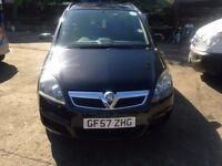 Vauxhall Zafira 1.6 i 16v Life 5dr GF57 ZHG VALID PCO BADGE TILL DECEMBER