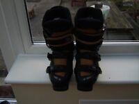 Ladies Rossignol Soft Cockpit Concept Ski Boots Black/Sand Size 23.5 UK 4.5