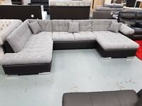 Brand New Magnum Sofa Bed. Comes In Beige/Brown, Grey/Black Or Grey White. Approx L342cm, W202cm