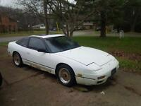 1993 Nissan 240sx S13 w/ Work Center-Lock Gold Mesh chrome rims