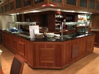 4 section carvery unit. 2x hot Bain Marie, 1x cold serve, 1x corner connector