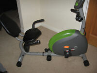 V FIT MAGNETIC RECUMBENT EXCERCISE BIKE. EXCELLENT CONDITION