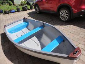 10ft Fibreglass Rowing Boat / Punt / Tender