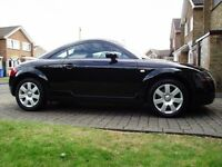 2004 AUDI TT 180 COUPE BLACK WITH ALACANTRA/LEATHER 83K ONLY 2 FORMER KEEPERS MINT CAR