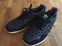 Ladies Adidas zx flux trainers Navy size 6 (worn once)